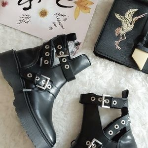 Zara Chunky Cut Out Ankle Boot